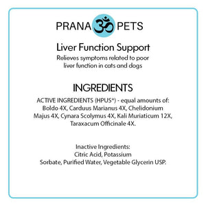 Dogs-Liver Function Support - Homeopathic Formula