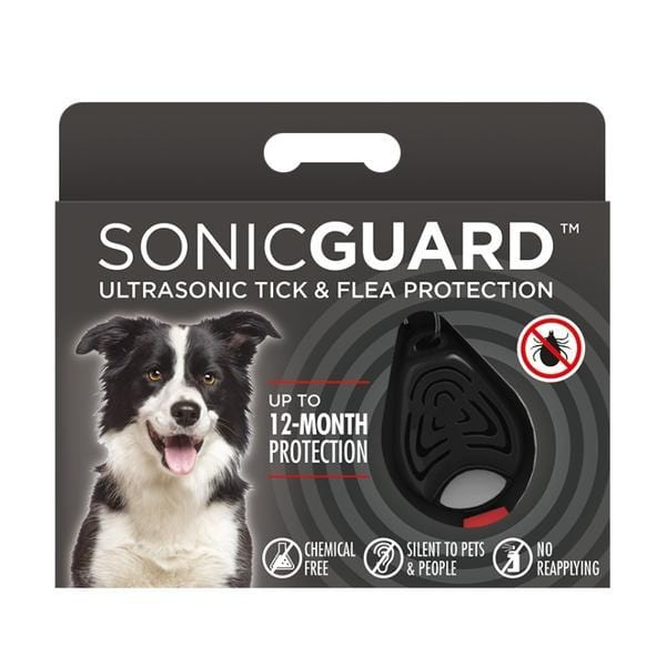 Brown SonicGuard Pet Chemical Free Tick and Flea Repeller -For Dogs