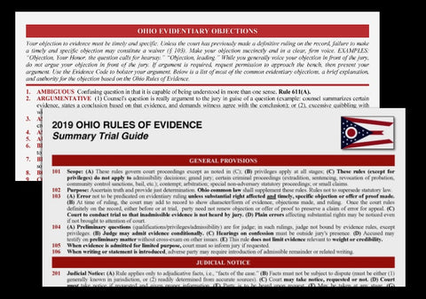 ohio rules of evidence