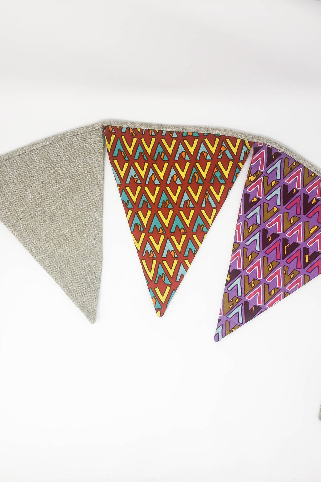 Bunting - Purple / Red