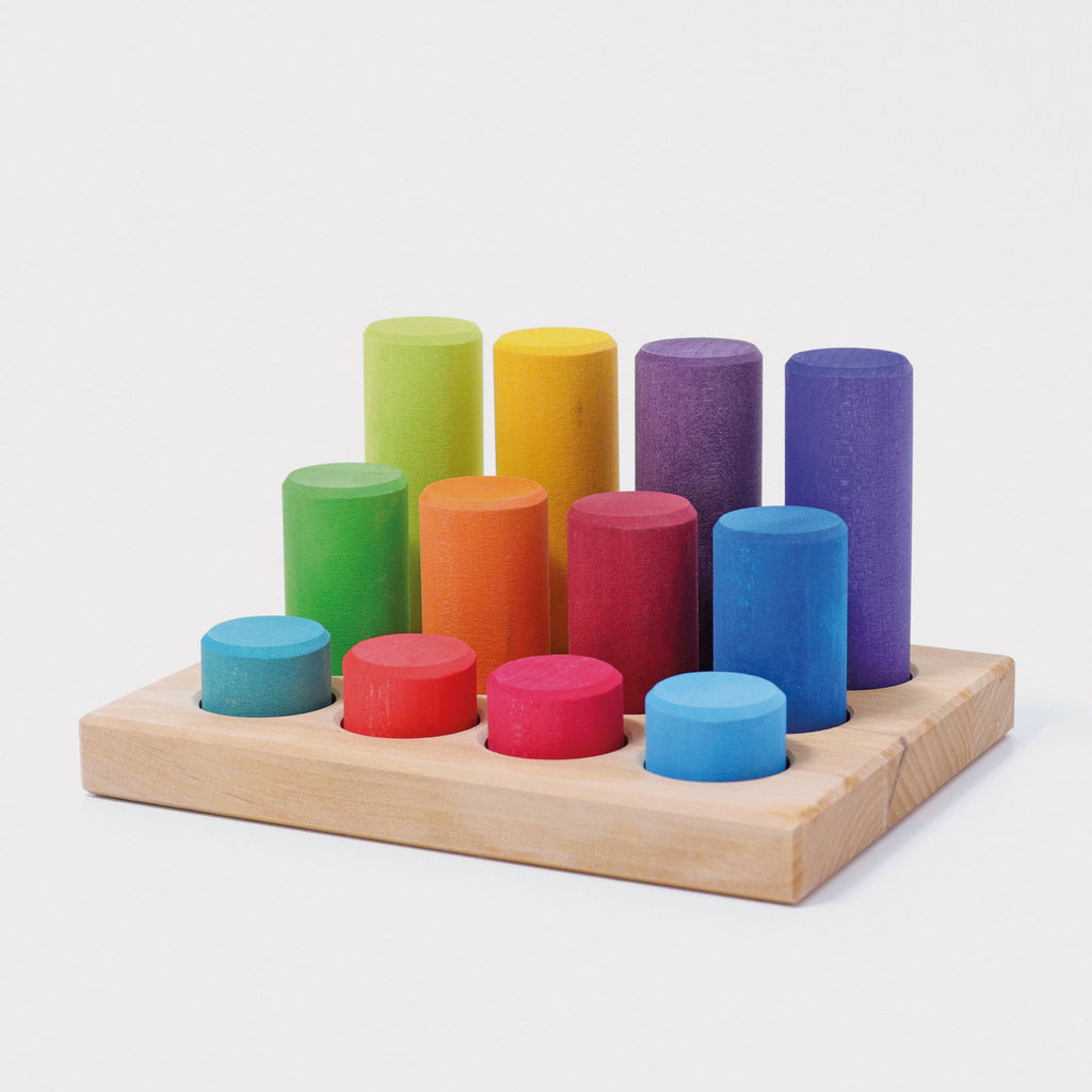 Grimm's Stacking Game Small Rainbow Rollers - Adams Attic
