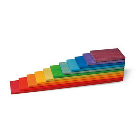 Grimm's Building Boards Rainbow Colours - Adams Attic