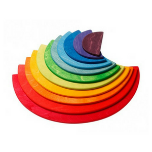 Grimm's Large Semicircles Rainbow Colours, 11 Pieces - Adams Attic