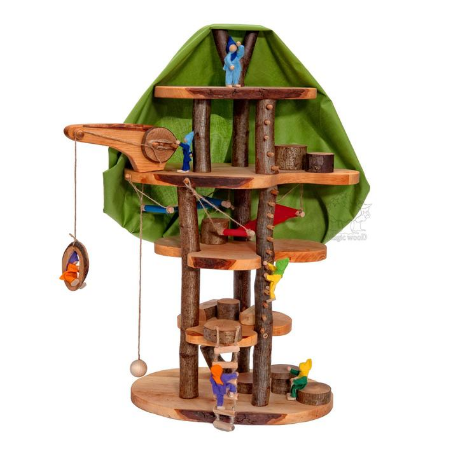 Magic Wood Forest Elves Tree House - Adams Attic