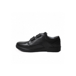 Ricosta William Black Rip Tape School Shoe - Adams Attic