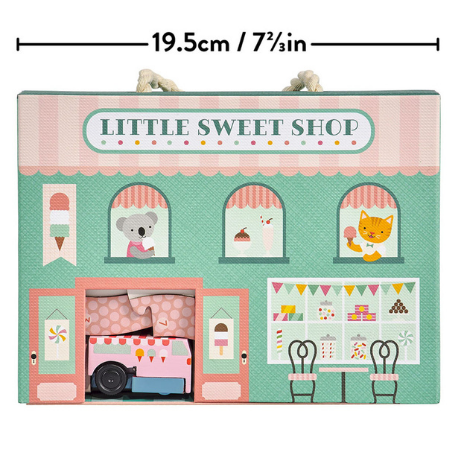 Petit Collage Wind up and Go Playset - Little Sweet Shop - Adams Attic