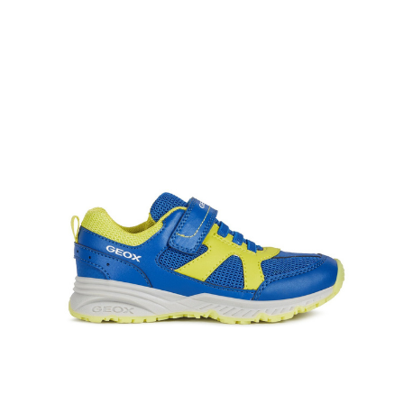Geox Bernie Trainer Royal Blue/lime - Adams Attic