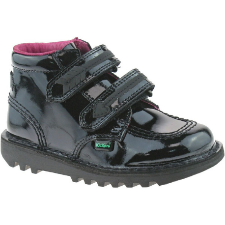 Kickers Arro Infant Black Patent - Adams Attic