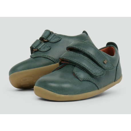 Bobux Step Up Port Shoe Forest Green - Adams Attic
