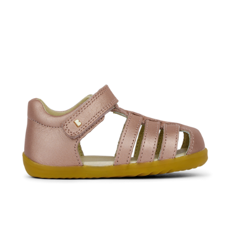 Bobux Step Up Jump Closed Sandal Rose Gold - Adams Attic