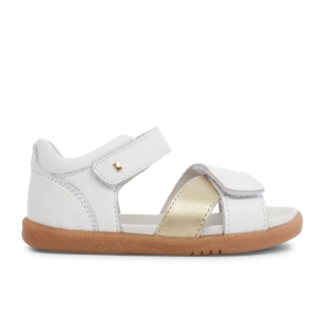 Bobux IWalk Sail White + Gold - Adams Attic