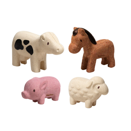 Plan Toys Farm Animals Set - Adams Attic