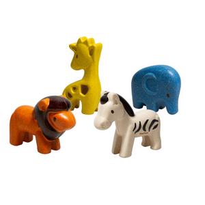 Plan Toys Wild Animals Set - Adams Attic