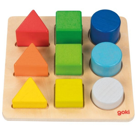 Goki Colour and Shape Assorting Board - Adams Attic