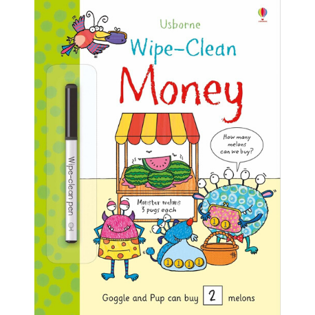 Usborne Wipe Clean Money - Adams Attic