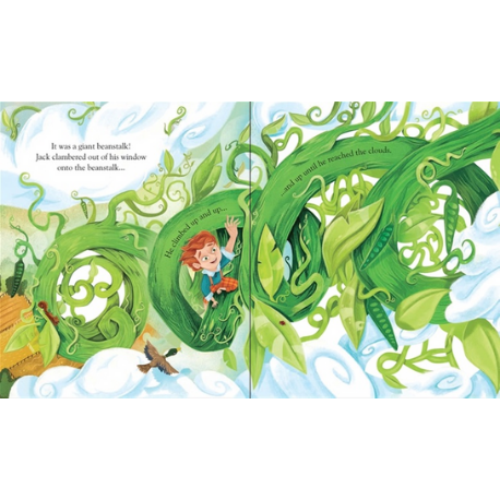 Usborne Peep Inside Fairytale Jack and the Beanstalk - Adams Attic