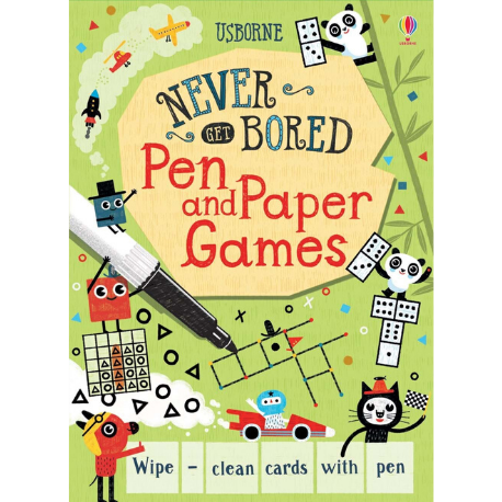 Usborne Never Get Bored Pen and Paper Games - Adams Attic