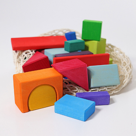Grimm's 30 Colored Geo-Blocks - Adams Attic