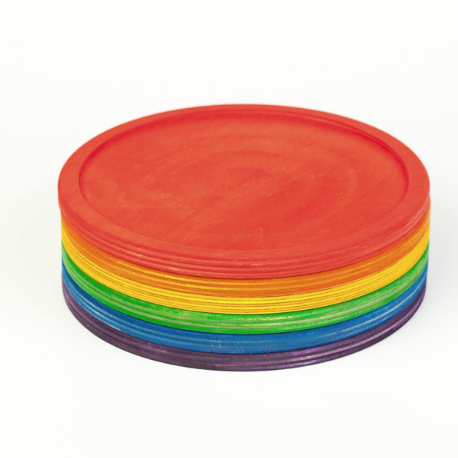 Grapat 6 Rainbow Dishes - Adams Attic