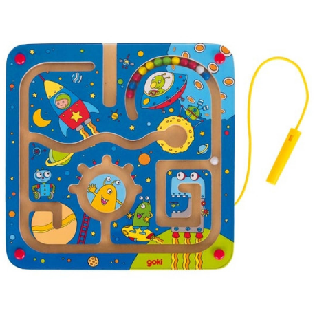 Goki Magnetic Maze Board Space - Adams Attic