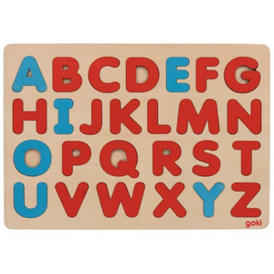 Goki Alphabet Puzzle - Plain Colours - Adams Attic