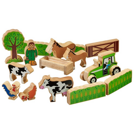 Lanka Kade Farmer's field set with colourful characters - Adams Attic