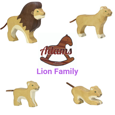 Holztiger Lion Family - Adams Attic