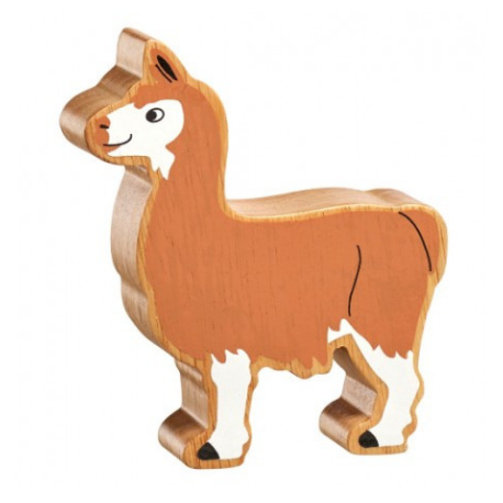 Lanka Kade Natural Brown & White Llama - Adams Attic