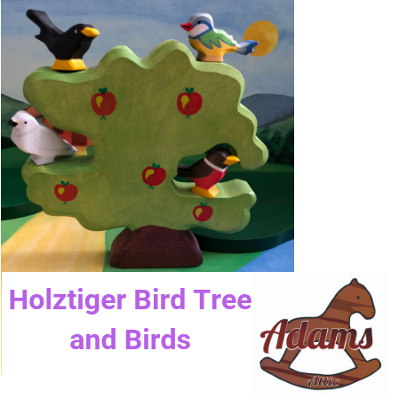 Holztiger Bird Tree and Birds Set - Adams Attic