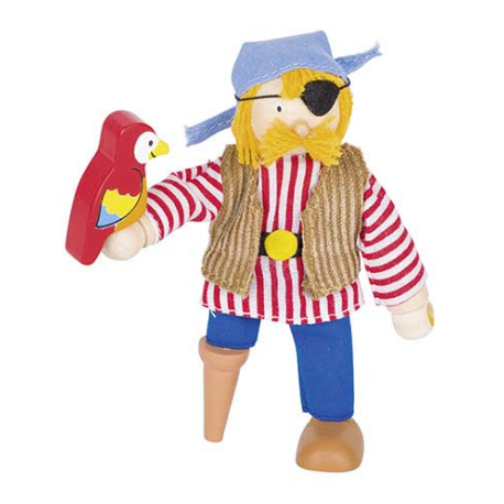 Goki Flexible puppet, pirate - Adams Attic