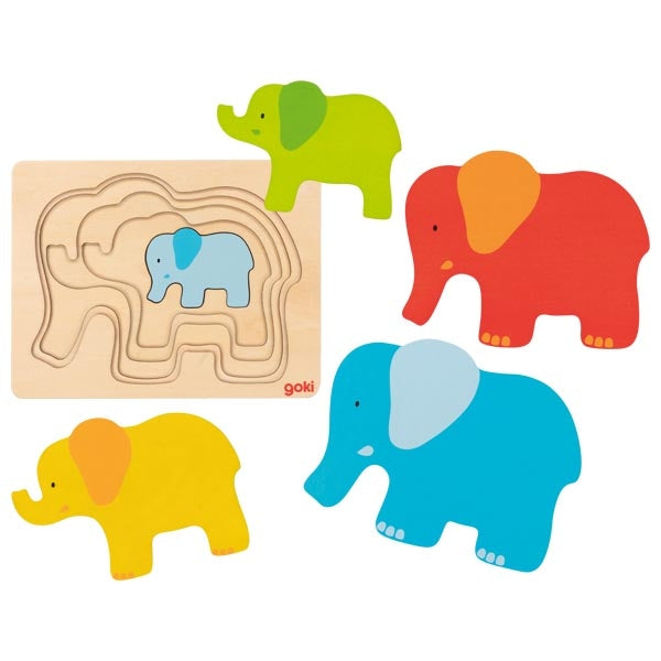 Goki Elephant Puzzle - Adams Attic