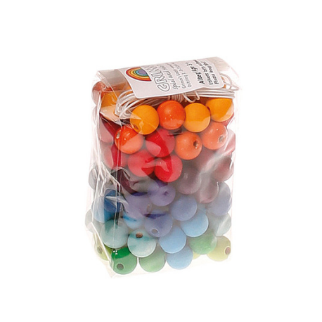 Grimm's 120 Small Wooden Beads - Adams Attic