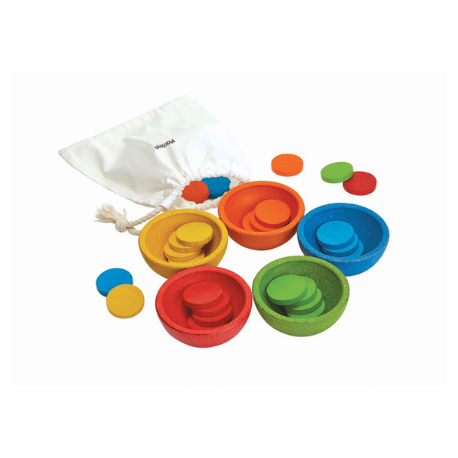 Plan Toys Sort & Count Cups - Adams Attic