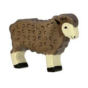 Holztiger Sheep Standing, Black - Adams Attic