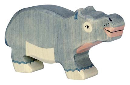Holztiger Hippopotamus, Small - Adams Attic