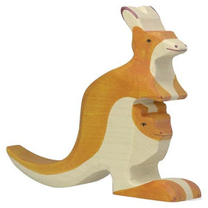 Holztiger Kangaroo with Young - Adams Attic