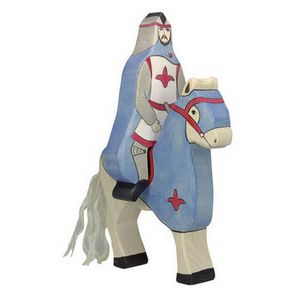 Holztiger Tournament Horse Blue (without Rider) - Adams Attic