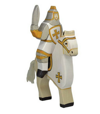 Holztiger Tournament Knight, White (without horse) - Adams Attic