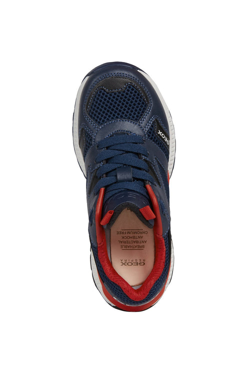 Geox Tuono trainer Navy/red - Adams Attic