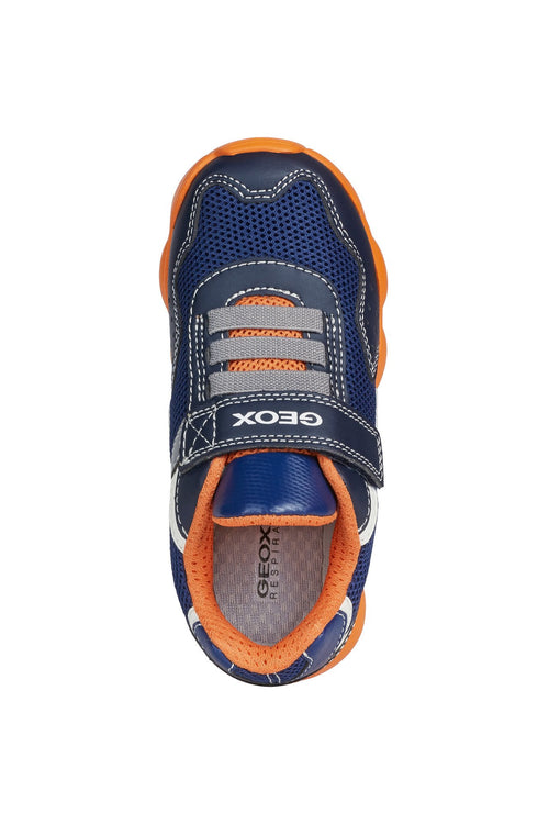 Geox Munfrey Trainer Navy/orange - Adams Attic