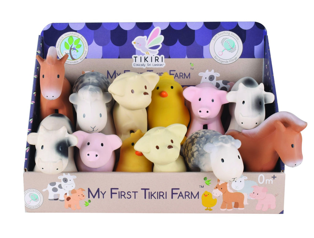 Tikiri My 1st Farm Animal Rattle and Bath Toy - Adams Attic