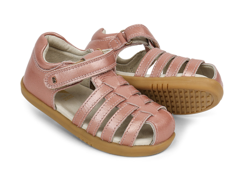 Bobux I Walk Jump Closed Sandal Rose Gold - Adams Attic