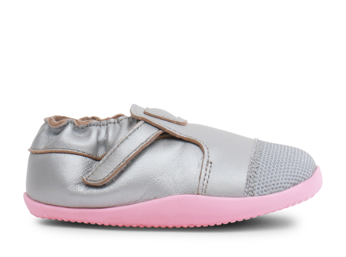Bobux Xplorer Origin Silver / Ice Pink - Adams Attic