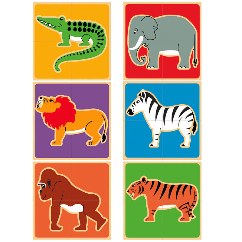 Lanka Kade Wild Animals Block Puzzle - Adams Attic
