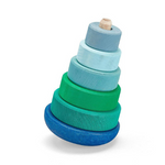 Grimm's Blue-Green Wobbly Stacking Tower - Adams Attic