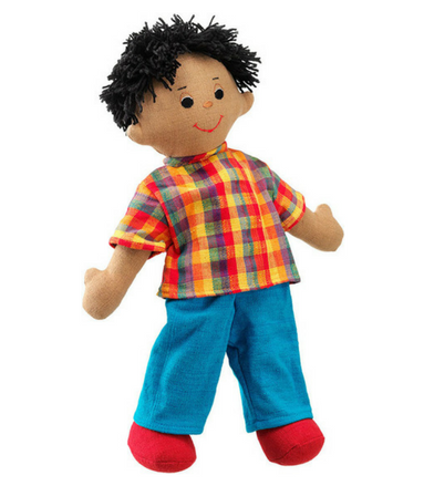 Dad doll - brown skin black hair - Adams Attic