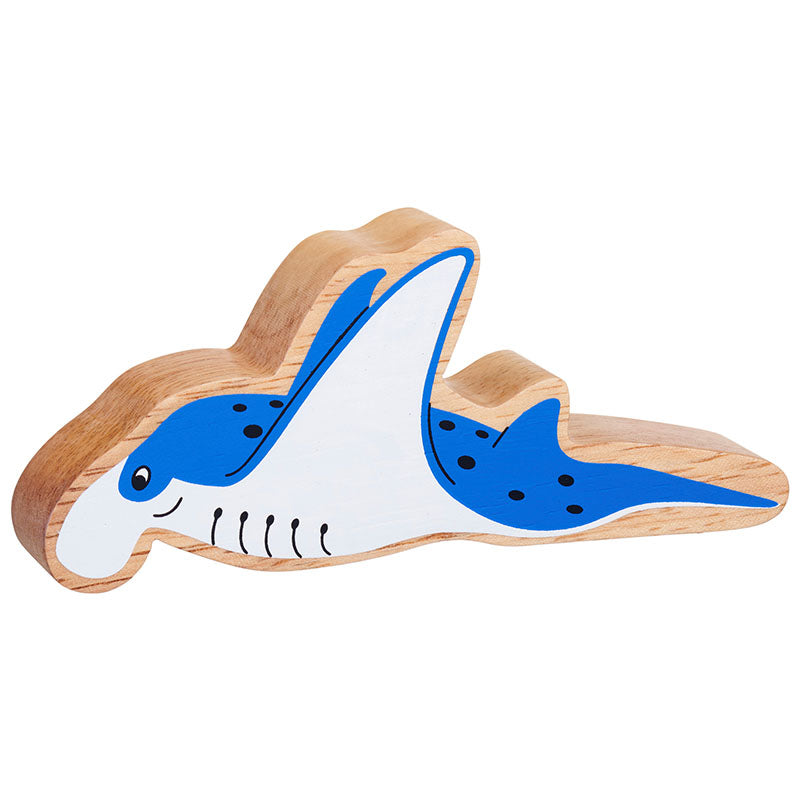 Lanka Kade Natural Blue & White Manta Ray - Adams Attic