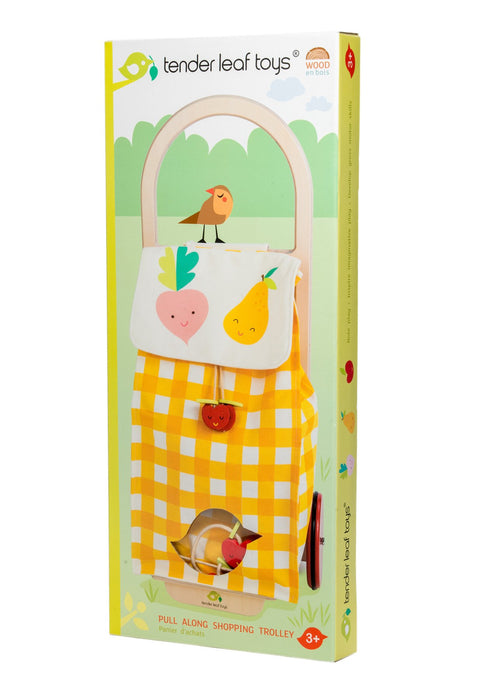 Tender Leaf Toys Pull Along Shopping Trolley - Adams Attic