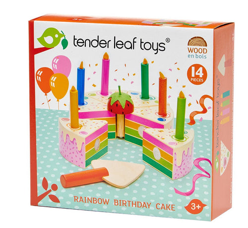 Tender Leaf Toys Rainbow Birthday Cake - Adams Attic