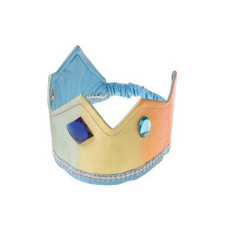 Sarah's Silks Reversible Crown, Rainbow/Sky Blue